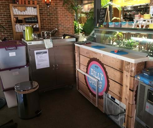 pop up food kiosk - palm beach qld - smart sink